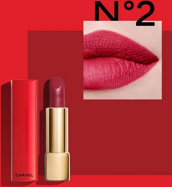 Son Chanel Rouge Allure Velvet Luminous màu 02