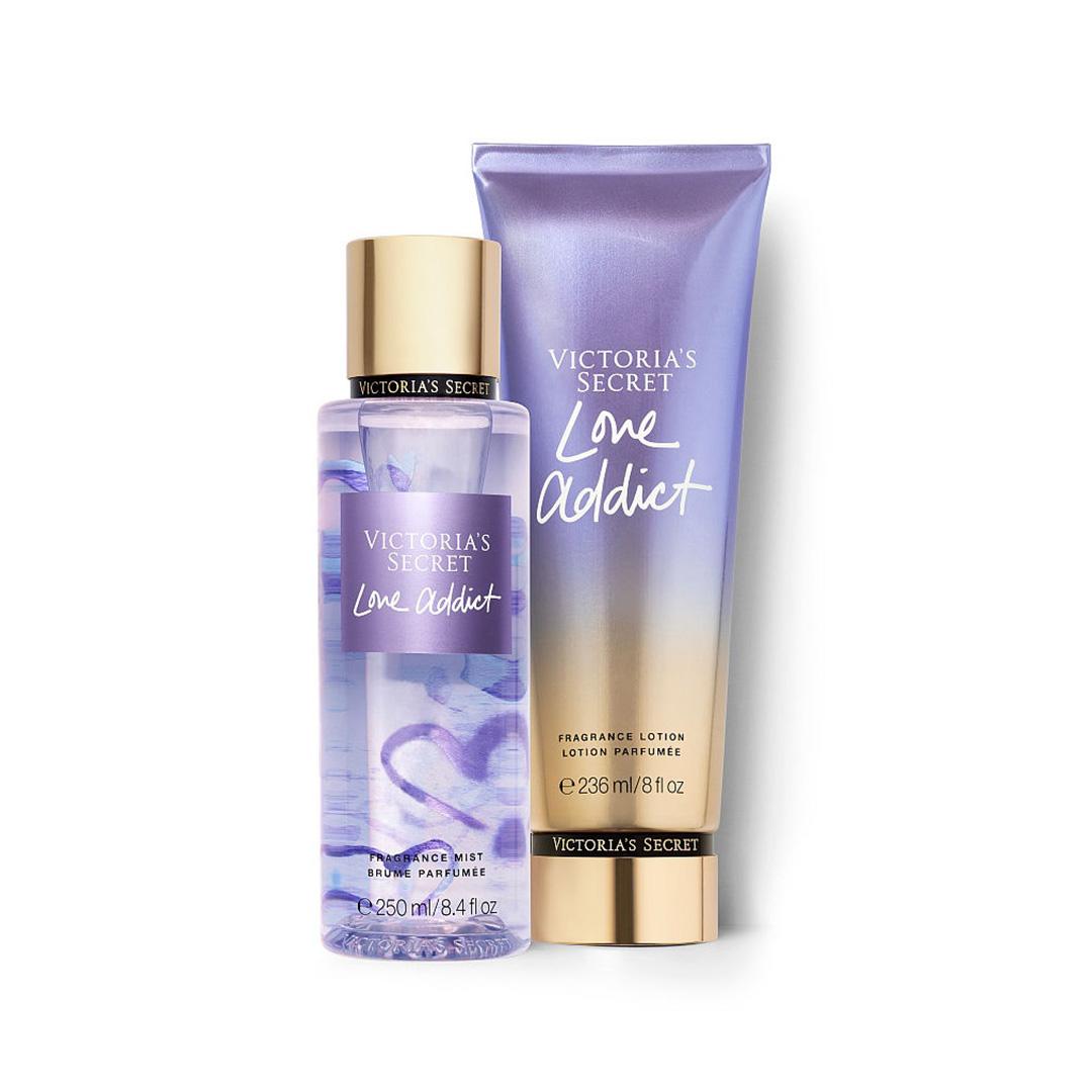 Xịt thơm toàn thân và Kem dưỡng ẩm toàn thân LOVE ADDICT - Victoria's Secret
