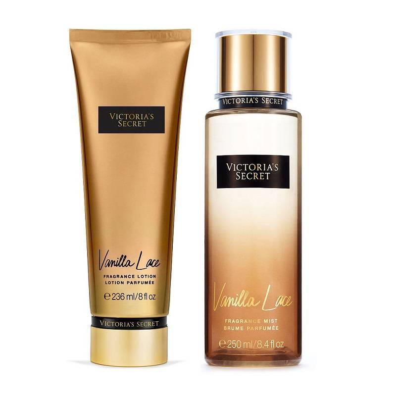 Xịt thơm toàn thân VANILLA LACE và kem dưỡng da VANILLA LACE- Victoria's Secret