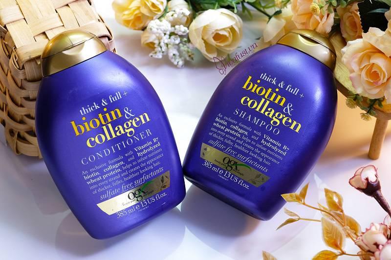 Dầu gội Biotin & Collagen sẽ phát huy công dụng tối đa khi được sử dụng với dầu xả cùng loại