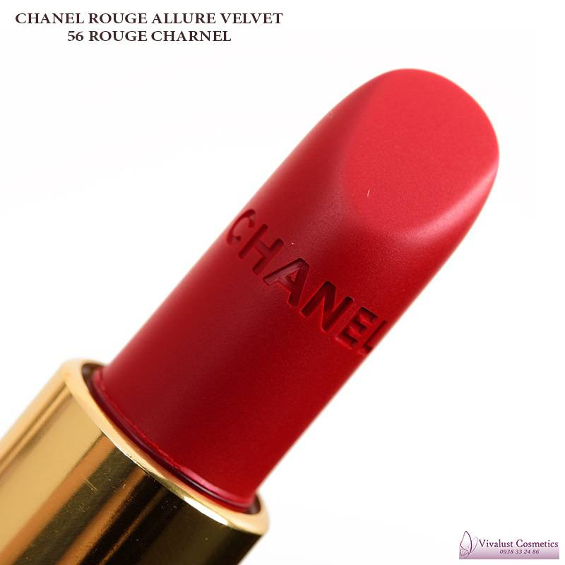 Son CHANEL màu 56 ROUGE CHARNEL