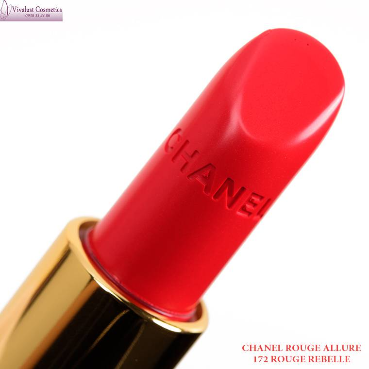 Son CHANEL màu 172 ROUGE REBELLE