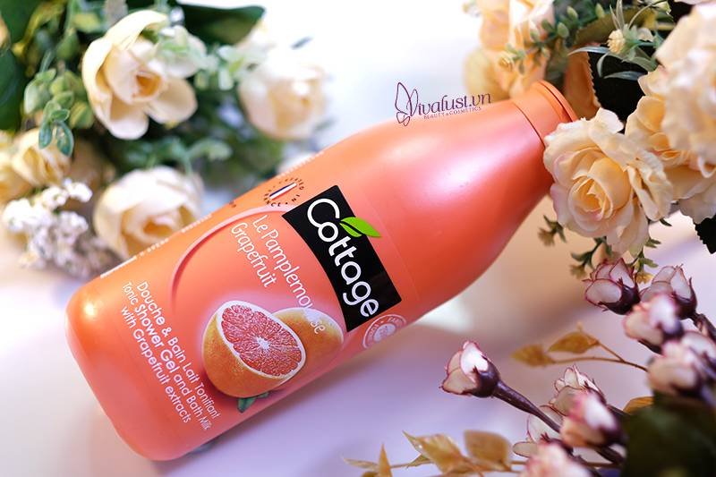 Sữa tắm Cottage Grapefruit hương Bưởi - Chai 750 ml sài thả ga