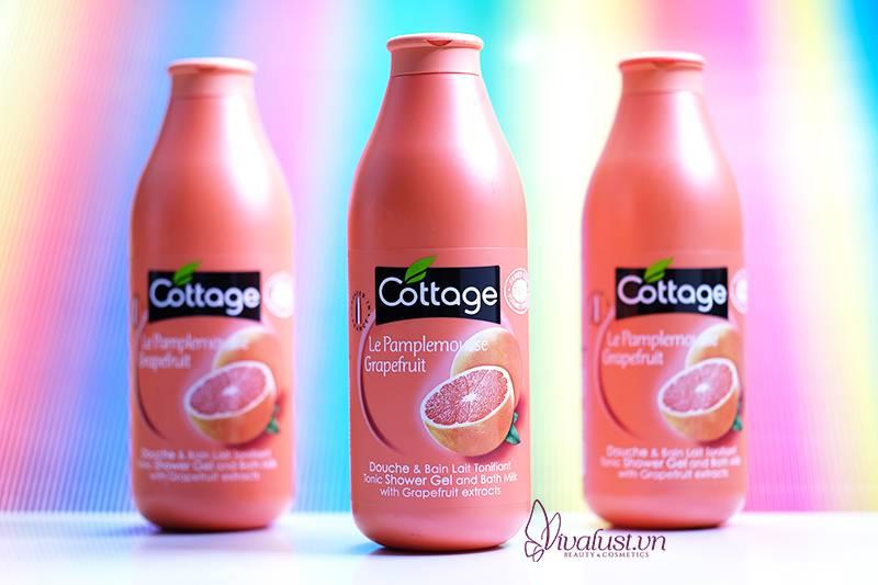 Sữa tắm Cottage hương Bưởi - Cho làn da tươi mát mịn màng