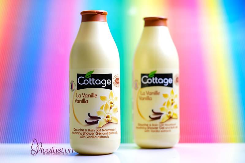 Sữa tắm Cottage hương Vanilla - Cho làn da tươi mát mịn màng