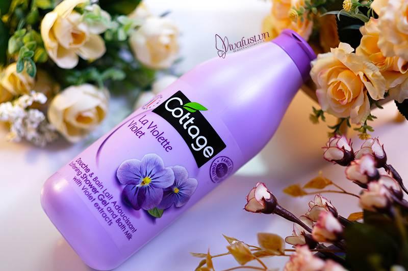 Sữa tắm Cottage hương hoa Violet - Chai 750ml sài thả ga