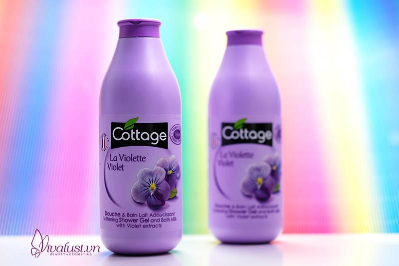 Sữa tắm Cottage hương Violet - Cho làn da tươi mát mịn màng