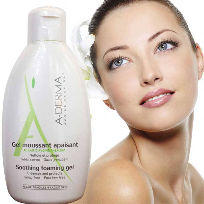 Sữa tắm Aderma Soothing Foaming Gel