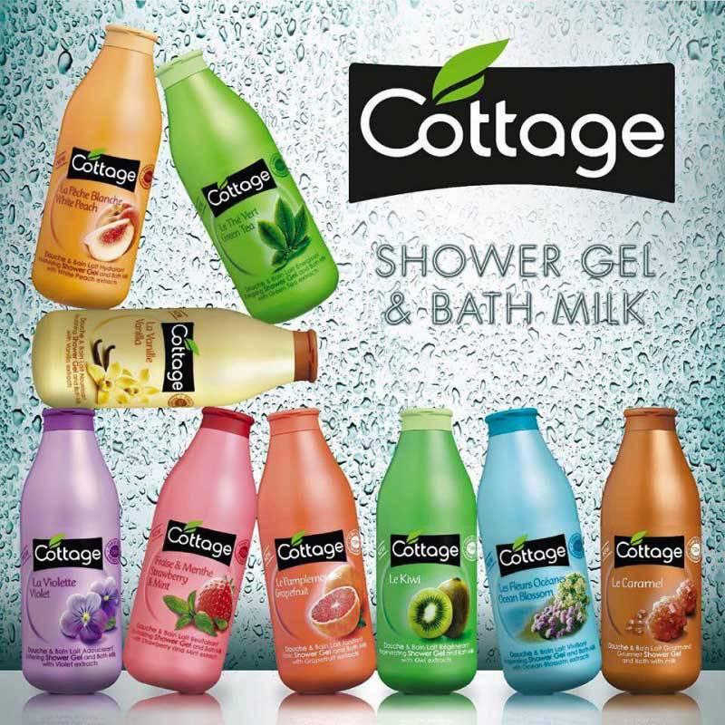Sữa tắm Cottage hương Dâu & Bạc Hà