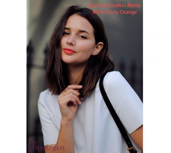 Son-Guerlain-Kiss-Kiss-Matte-mau-M347-Zesty-Orange-Vivalust.vn-5.jpg