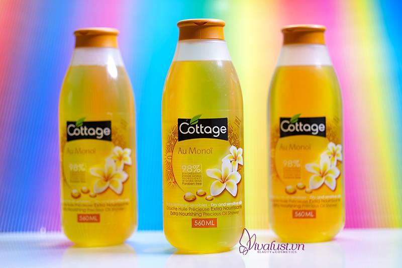 Sữa tắm Cottage chiết xuất từ tinh dầu Hoa Sứ cao cấp - Cho làn da tươi mát mịn màng